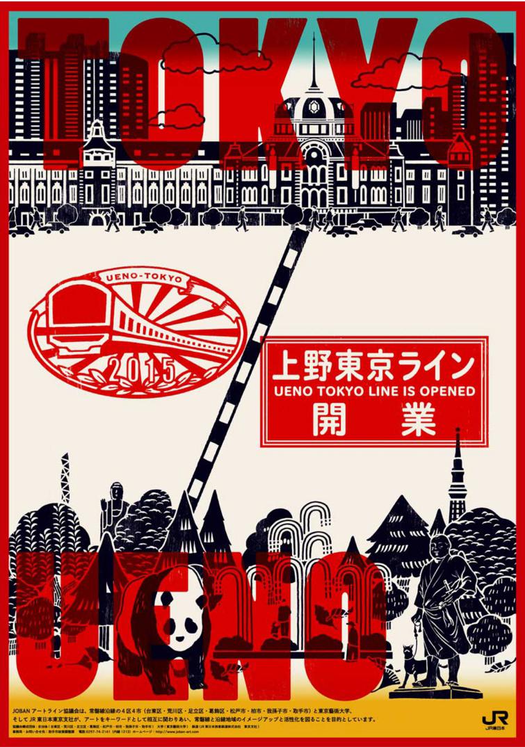 上野東京ライン開業のポスター