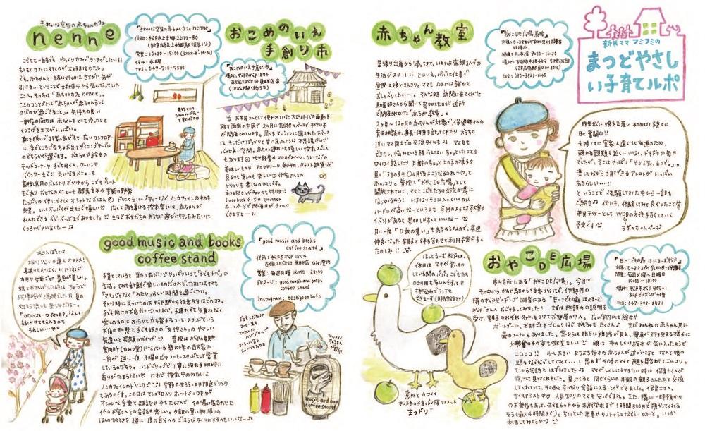 松戸やさしい暮らしガイド17・18ページ写真