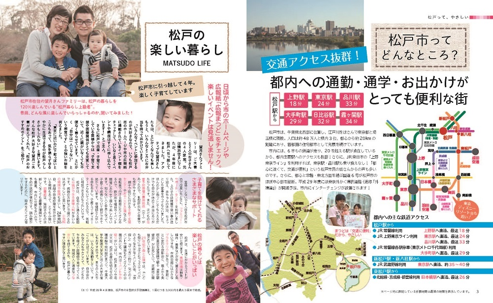 松戸やさしい暮らしガイド3・4ページ写真