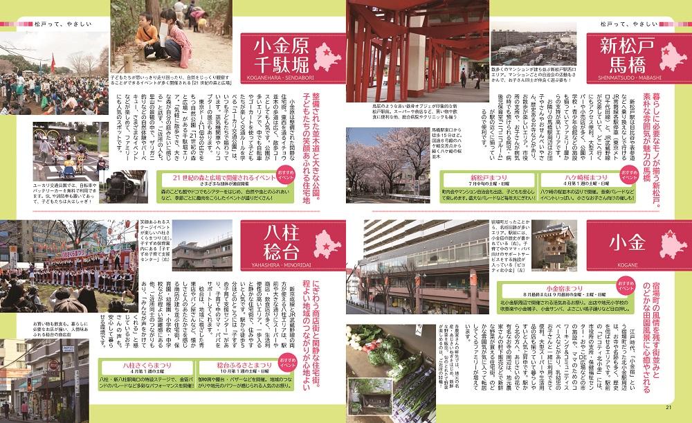 松戸やさしい暮らしガイド21・22ページ写真