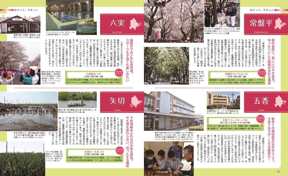 松戸やさしい暮らしガイド23・24ページ写真