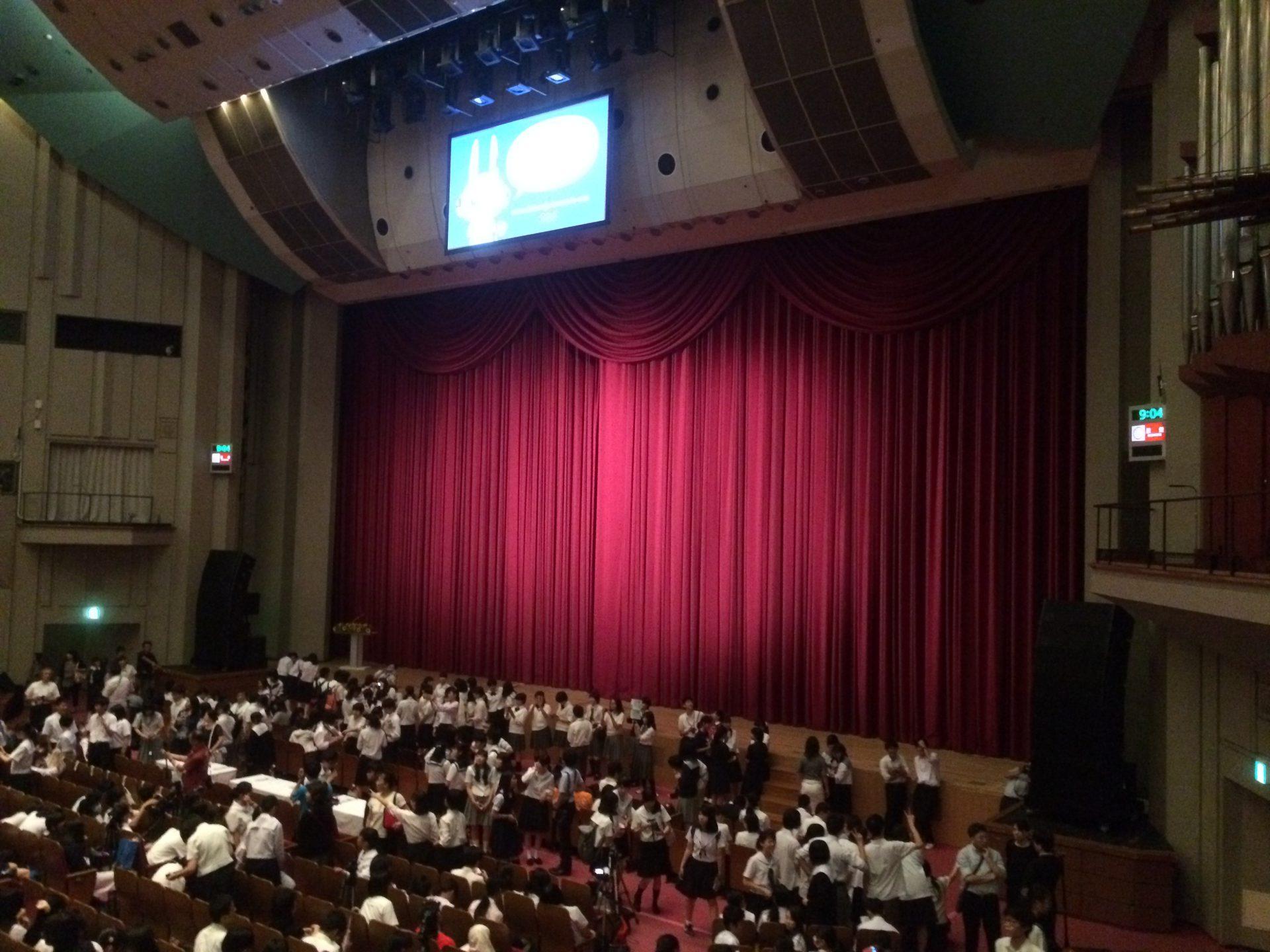 検見川高校大会発表前