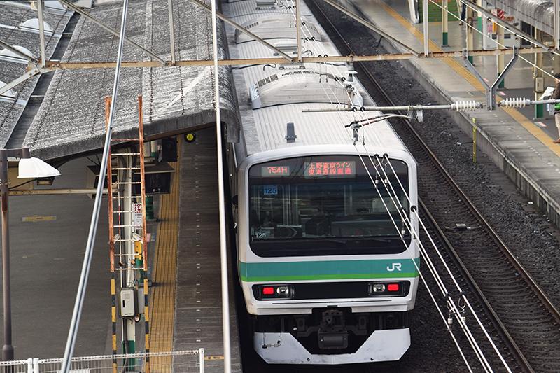 松戸駅に停車中の上野東京ライン