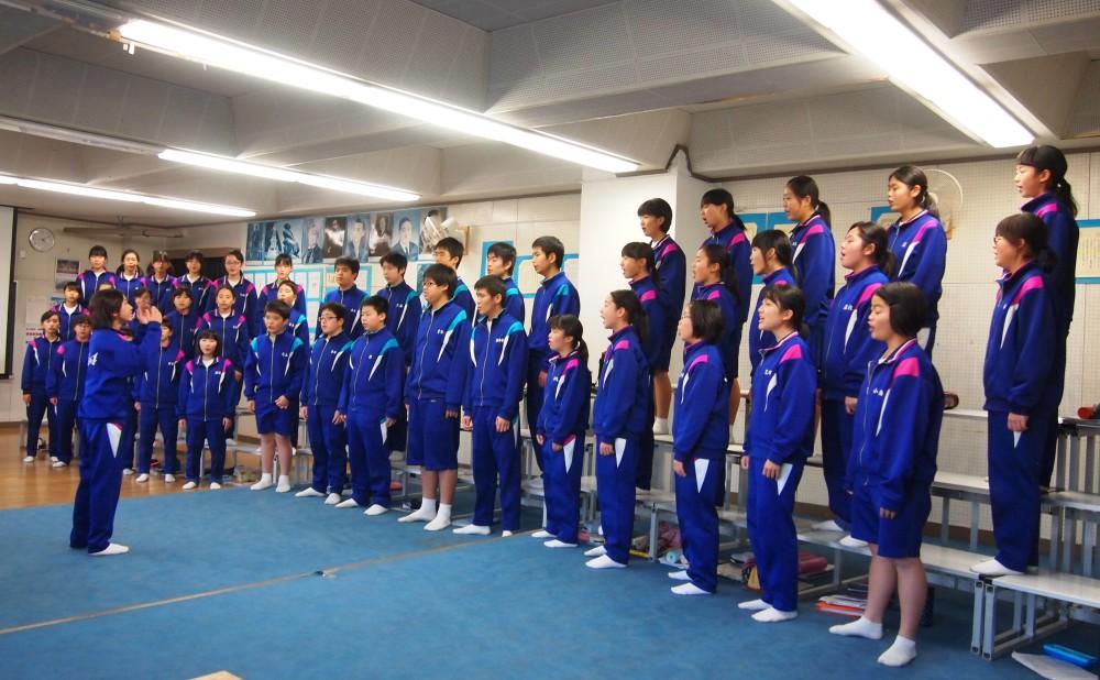 松戸第一合唱練習風景