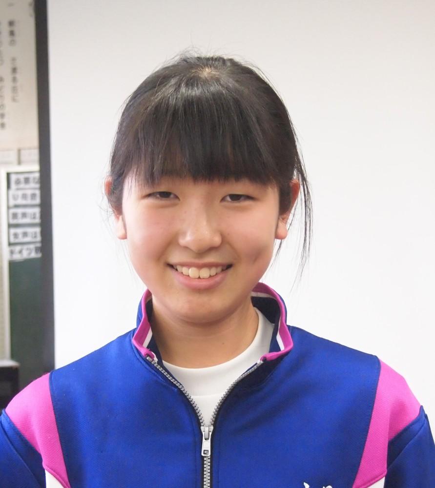 合唱部部長 山見奈々花さん2年生